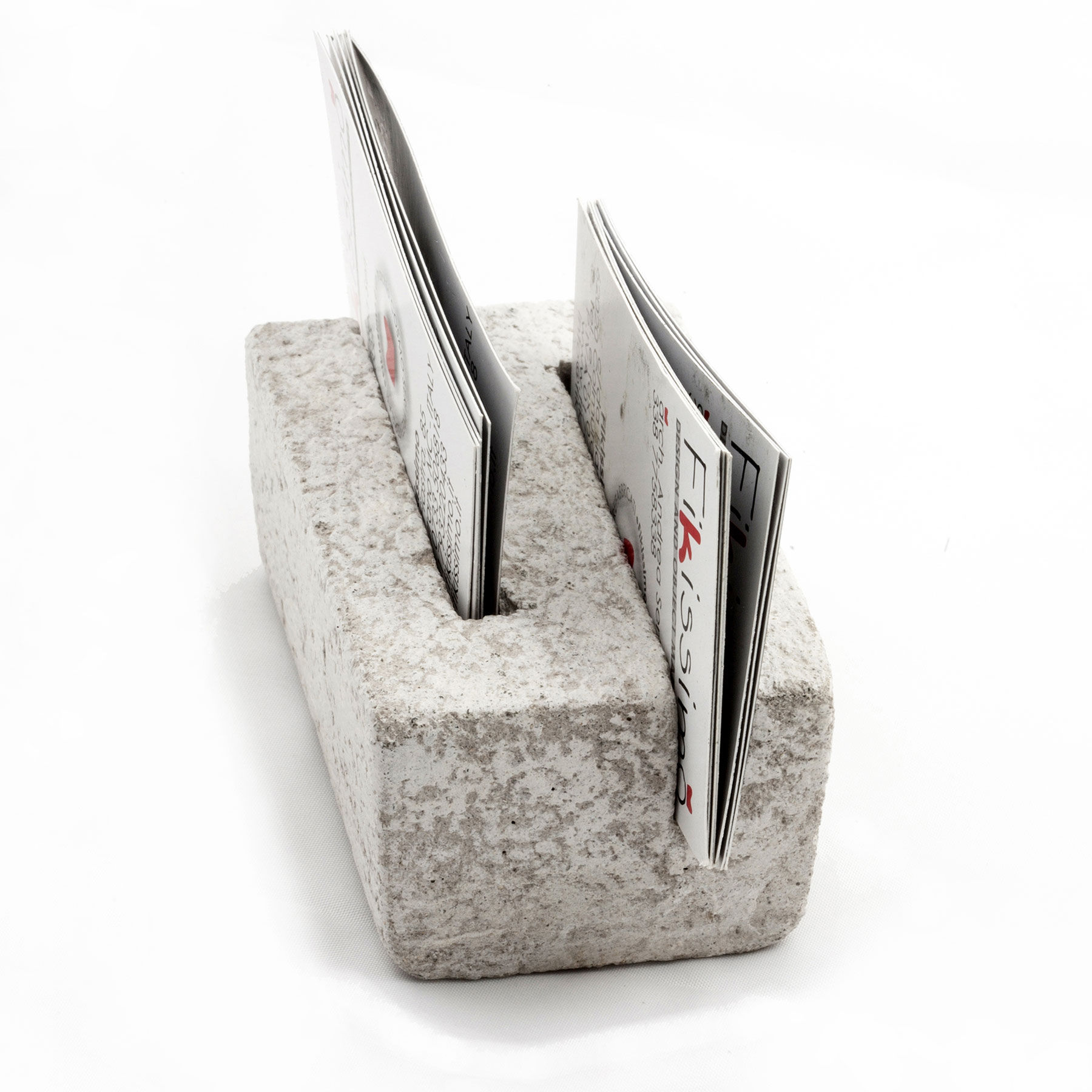 business card holder made in cement