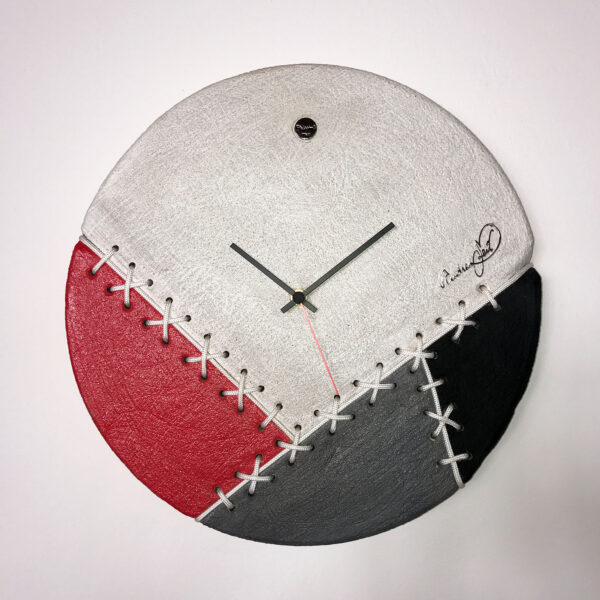 wall clock made with coloured cement
